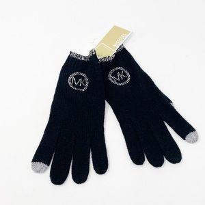 NWT Michael Kors Studded Knit Tech Gloves